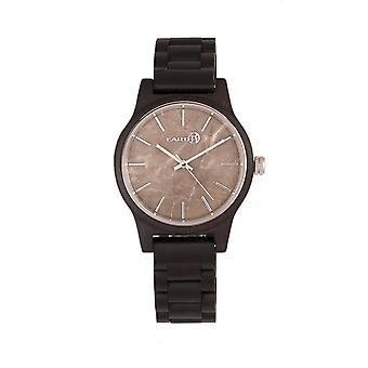Earth Wood Tuckahoe Marble-Dial Bracelet Watch - Dark Brown