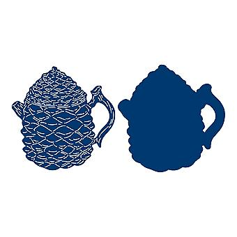 Tattered Lace Pine Cone Infusion Teapot Die Set