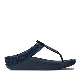 Women's Fit Flop Isabelle Toe Thong Sandals in Blue
