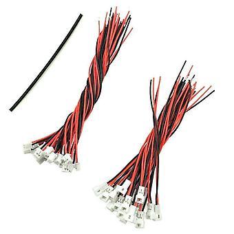 YUNIQUE DEUTSCHLAND 40 Verbindungsstücke JST Micro Pico 125mm 2 Pin Männlich + 20 Weiblich mit 80/100mm Draht Farbe Weiß Schwarz Rot E2-TBGU-7O9N Bianco Nero Rosso
