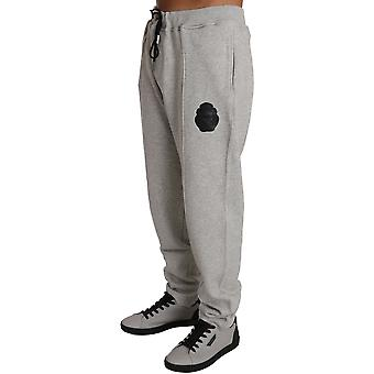 Billionaire Italian Couture BIC Gray 100% Cotton Sweater Pants Tracksuit