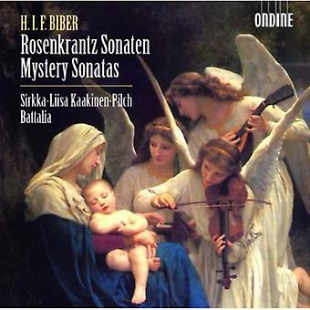 Biber/Sirkka-Liisa Kaakinen-Pichl/Battalia - Rosenkrantz Sonaten (Mystery Sonatas) [CD] USA import