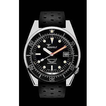 Squale 1521 Classic black rubber black 1521CL. Nt