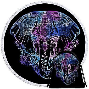 Blue Purple Indian Elephant Beach håndkle
