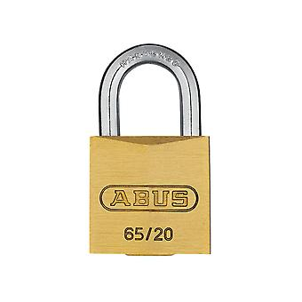 ABUS 65/20mm Brass Padlock Carded ABU6520C