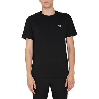 Ps Door Paul Smith M2r011razebra79 Men's Black Cotton T-shirt