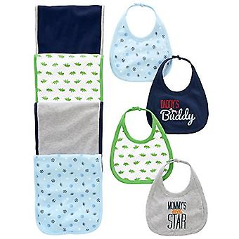 Simple Joys by Carter's Baby Boys' 8-Pack Burp Cloth, Sports/Dino, Size One Size