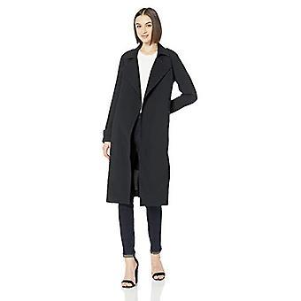 Brand - Lark & Ro Women's Lightweight Trench Coat, Black, 10