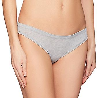 Brand - Mae Women's Airy Thong, 3-Pack, Light Heather Grey/Charcoal He...