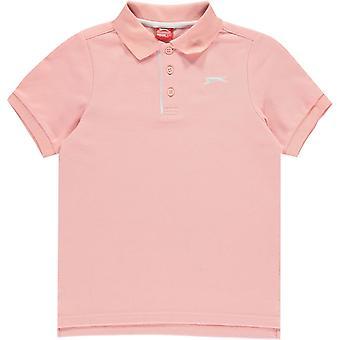 Slazenger Plain Polo Shirt Junior Boys