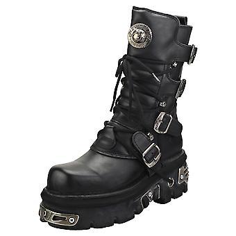 Nouveau réacteur Rock Half Boots Unisex Plate-forme Boots en noir