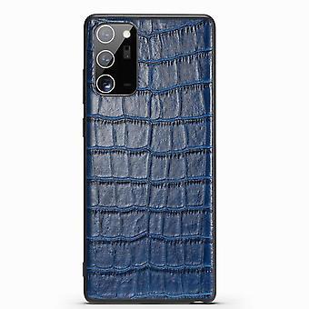 Para Samsung Galaxy Note 20 Ultra Case Couro Crocodilo Textura Capa Azul