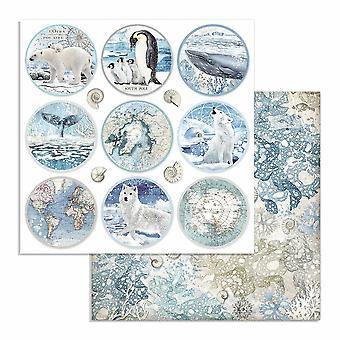 Stamperia Arktis Antarktis Runden 12 x 12 Zoll Papierblätter (10pcs) (SBB734)