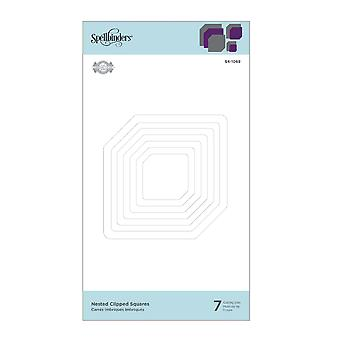 Nestabilities Nested Clipped Squares Etched Dies (S4-1069)