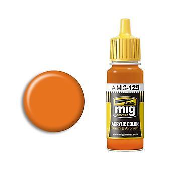 Ammo by Mig Acrylic Paint - A.MIG-0129 Orange (17ml)