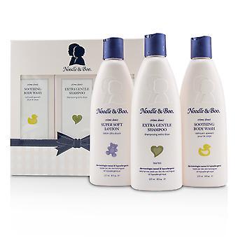 Starter cadeauset: extra zachte shampoo 237ml/8oz + rustgevende bodywash 237ml/8oz + superzachte lotion 237ml/8oz 224198 3pc