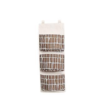 3 Pockets Hanging Storage Bag Brown