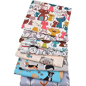 Cartoon Animal Series - Printed Twill Cotton Fabric And Patchwork Cloth