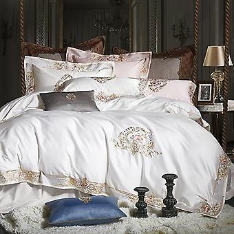 Egyptian Cotton Premium 1000tc Luxury Embroidery Bedding Set