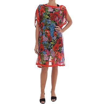 دولتشي وغابانا متعددة الألوان الحرير الحرير ثوب بونتشو - DR12364528