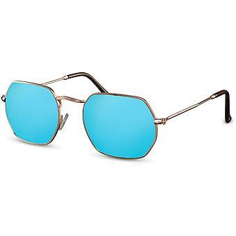 Okulary przeciwsłoneczne Unisex prostokątne złoto/niebieski (CWI2159)
