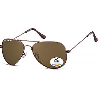 Sunglasses Unisex Aviator Brown (MP94D)