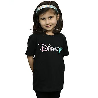 Disney Girls Pastel Logo T-Shirt