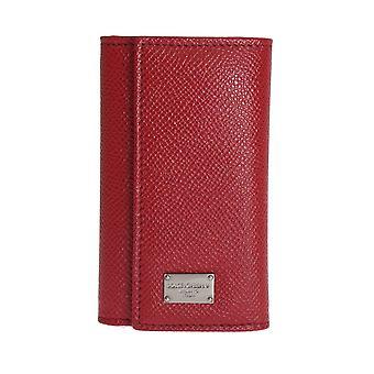 Dolce & Gabbana Red Leather Key Case Wallet SIG50093