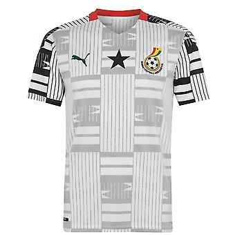 Puma Mens Ghana Home Jersey Camicia Replica Domestica Short Sleeve Top
