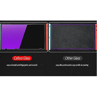 Violet Glass Screen Protector For Nintendo Switch - Tempered Glass Anti Blue Light