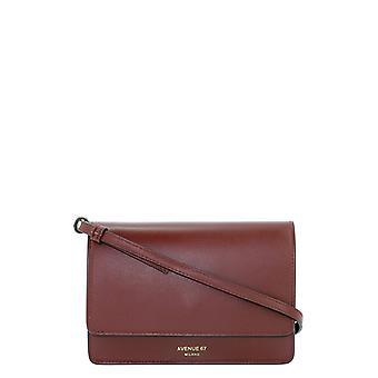 Avenue 67 Travelvit60 Women's Burgundy Leather Shoulder Bag