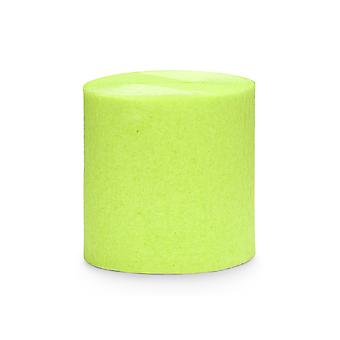 4 x 10m Lime Green Crepe Paper Streamer Rolls - Party Decorations