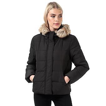 Women's Jacqueline de Yong Sunset Padded Puffer Jacket in Black
