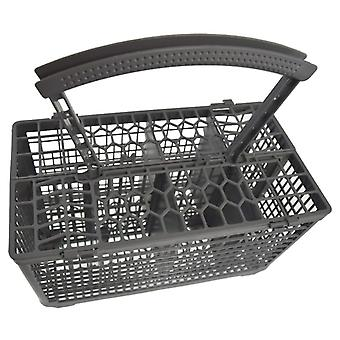 Universal Dishwasher Cutlery Basket with Re-enforced Handle and Lid