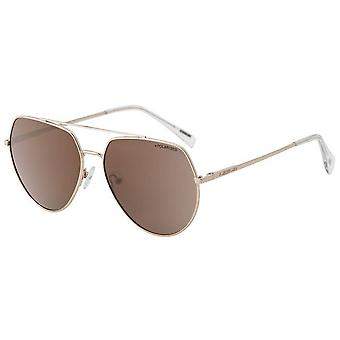 Dirty Dog Vertex Satin Mirror Polarised Sunglasses - Light Gold/Brown