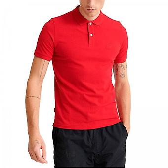 Superdry Classic Lite Micro Pique S/S Polo Rot PF9