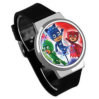 Impermeable luminoso LED Digital Touch Reloj niños - PJ máscaras #6