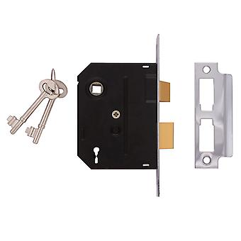 UNION 2295 2 Alavanca Mortice Sashlock Chrome Acabamento 76mm 3 na Caixa UNNJ2295CH30