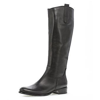 غابور بروك السيدات ركوب الأحذية الجلدية نمط في الأسود