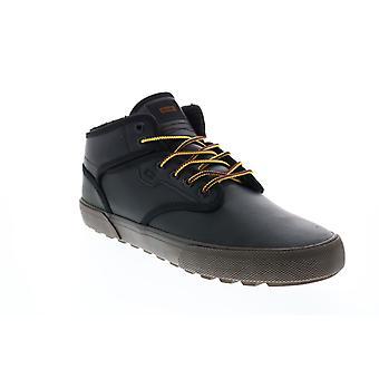 Globe Motley Mid Mens musta nahka pitsi ylös luistimet innoittamana lenkkarit kengät