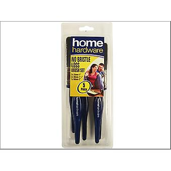 Home DIY (Paint Brushes) No Loss Brush Set 5 Piece