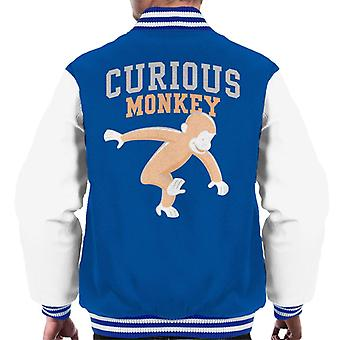 Neugierige George Monkey Sports Schrift Art Men's Varsity Jacke