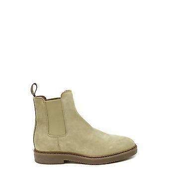 Doucal's Ezbc089050 Men's Beige Suede Ankle Boots