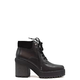 Hogan Ezbc030230 Women's Black Leather Ankle Boots