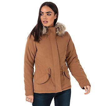 Women's Only New Lucca Parka Jacket in Brown