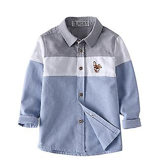 Full Sleeve Embroidery Pattern Shirt/splice Kid Casual Clothes