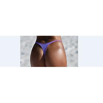Verano Mujeres Damas Bikini Thong Bottoms Sexy Sólido Traje de Baño