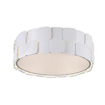 Italux Elisa - Moderne Flush Deckenleuchte Weiß 4 Licht, E27