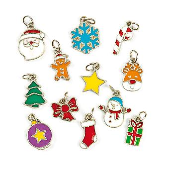 Baker ross christmas charms — ideal for jewellery, bracelet, necklace and keychain-making, kids' a