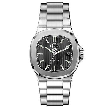 GV2 Automatic Men's Potente Black Dial Inoxidless Steel Bracelet Watch